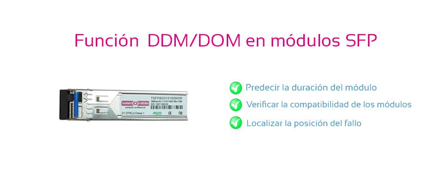 FUNCION DDM_DOM EN LOS MODULOS SFP