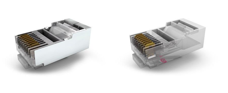 tipos de conectores RJ45