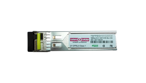 Módulo SFP Gigabit BIDI TX1550 RX1310 LC Dup 20km