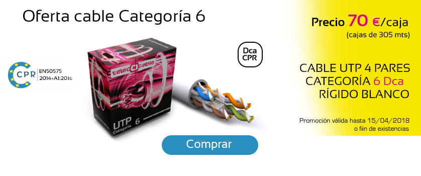 Oferta cable categoría 6
