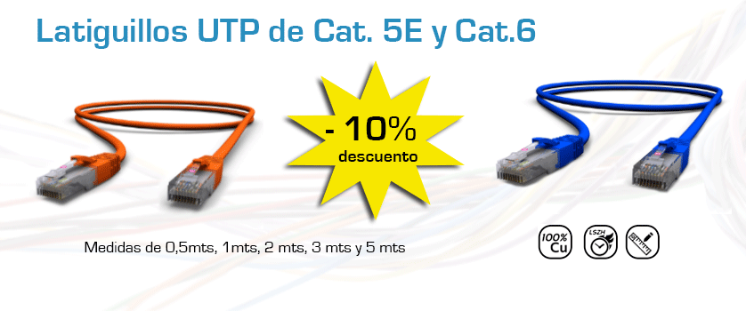 Latiguillos UTP de Cat. 5E y Cat. 6