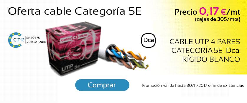 Oferta cable categoría 5E