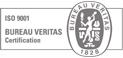 Empresa certificada ISO9001 por Bureau Veritas